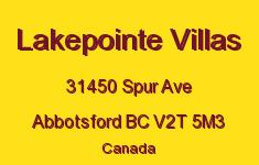 Lakepointe Villas 31450 SPUR V2T 5M3