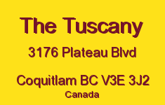 The Tuscany 3176 PLATEAU V3E 3J2
