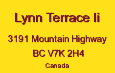Lynn Terrace Ii 3191 MOUNTAIN V7K 2H4