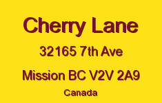 Cherry Lane 32165 7TH V2V 2A9