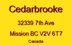 Cedarbrooke 32339 7TH V2V 6T7