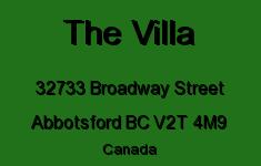 The Villa 32733 BROADWAY V2T 4M9