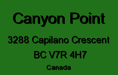 Canyon Point 3288 CAPILANO V7R 4H7