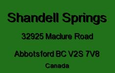 Shandell Springs 32925 MACLURE V2S 7V8
