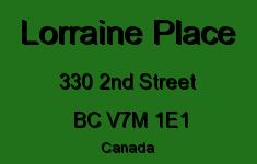 Lorraine Place 330 2ND V7M 1E1