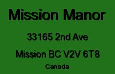 Mission Manor 33165 2ND V2V 6T8