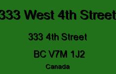 333 West 4th Street 333 4TH V7M 1J2