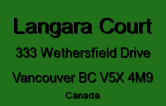 Langara Court 333 WETHERSFIELD V5X 4M9
