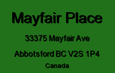 Mayfair Place 33375 MAYFAIR V2S 1P4