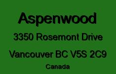 Aspenwood 3350 ROSEMONT V5S 2C9