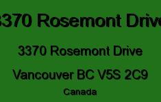 3370 Rosemont Drive 3370 ROSEMONT V5S 2C9