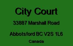 City Court 33887 MARSHALL V2S 1L6