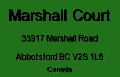 Marshall Court 33917 MARSHALL V2S 1L6