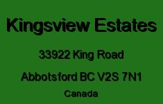 Kingsview Estates 33922 KING V2S 7N1