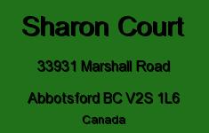 Sharon Court 33931 MARSHALL V2S 1L6