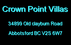 Crown Point Villas 34899 OLD CLAYBURN V2S 6W7