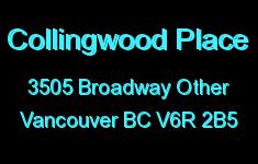 Collingwood Place 3505 BROADWAY V6R 2B5