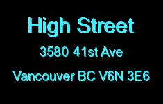 High Street 3580 41ST V6N 3E6