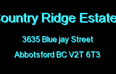 Country Ridge Estates 3635 BLUE JAY V2T 6T3
