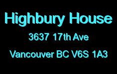 Highbury House 3637 17TH V6S 1A3