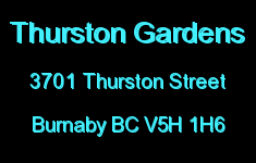Thurston Gardens 3701 THURSTON V5H 1H6
