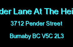Pender Lane At The Heights 3712 PENDER V5C 2L3