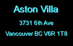 Aston Villa 3731 6TH V6R 1T8