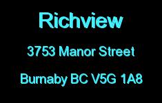 Richview 3753 MANOR V5G 1A8