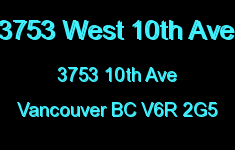 3753 West 10th Ave 3753 10TH V6R 2G5