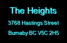 The Heights 3768 HASTINGS V5C 2H5