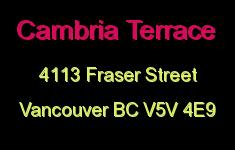 Cambria Terrace 4113 FRASER V5V 4E9