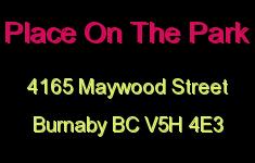 Place On The Park 4165 MAYWOOD V5H 4E3