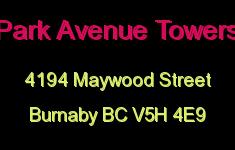 Park Avenue Towers 4194 MAYWOOD V5H 4E9