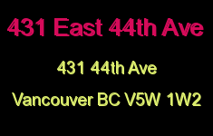 431 East 44th Ave 431 44TH V5W 1W2