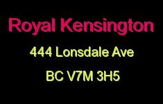 Royal Kensington 444 LONSDALE V7M 3H5
