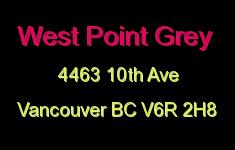 West Point Grey 4463 10TH V6R 2H8
