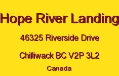 Hope River Landing 46325 RIVERSIDE V2P 3L2