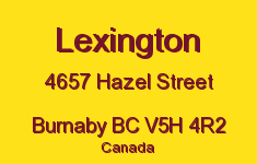 Lexington 4657 HAZEL V5H 4R2