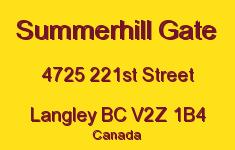 Summerhill Gate 4725 221ST V2Z 1B4