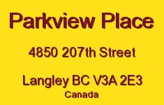 Parkview Place 4850 207TH V3A 2E3