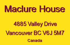 Maclure House 4885 VALLEY V6J 5M7