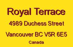 Royal Terrace 4989 DUCHESS V5R 6E5