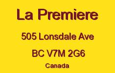 La Premiere 505 LONSDALE V7M 2G6