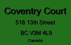 Coventry Court 518 13TH V3M 4L9