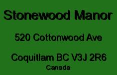 Stonewood Manor 520 COTTONWOOD V3J 2R6