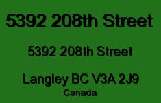 5392 208th Street 5392 208TH V3A 2J9