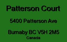 Patterson Court 5400 PATTERSON V5H 2M5