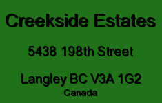 Creekside Estates 5438 198TH V3A 1G2