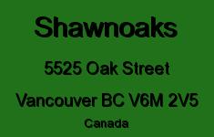 Shawnoaks 5525 OAK V6M 2V5