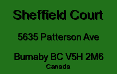 Sheffield Court 5635 PATTERSON V5H 2M6